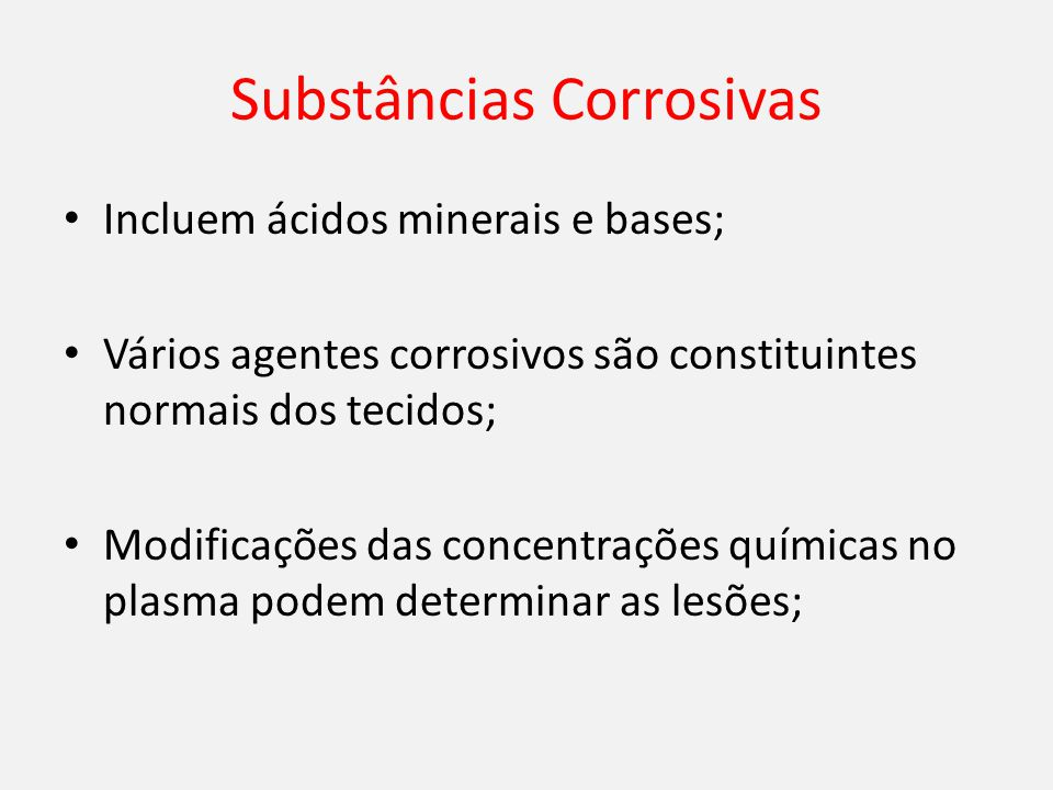 Substâncias Corrosivas