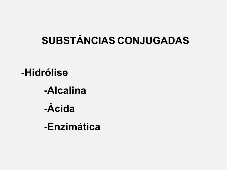 SUBSTÂNCIAS CONJUGADAS