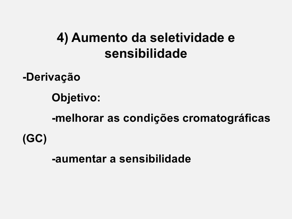 4) Aumento da seletividade e sensibilidade