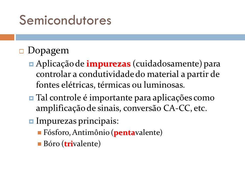 Semicondutores Dopagem