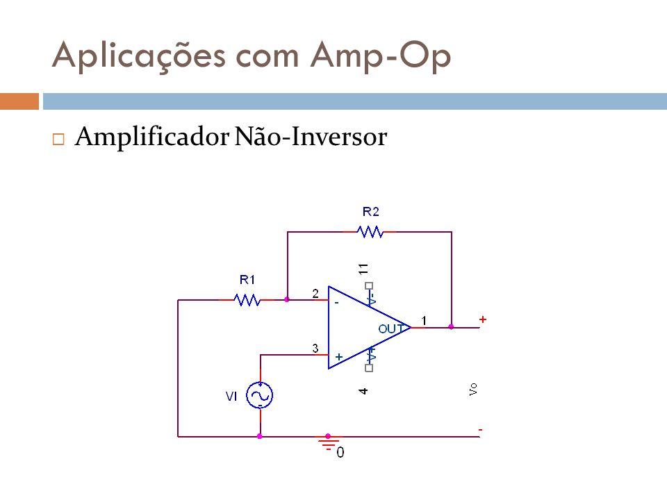 Aplicações com Amp-Op Amplificador Não-Inversor