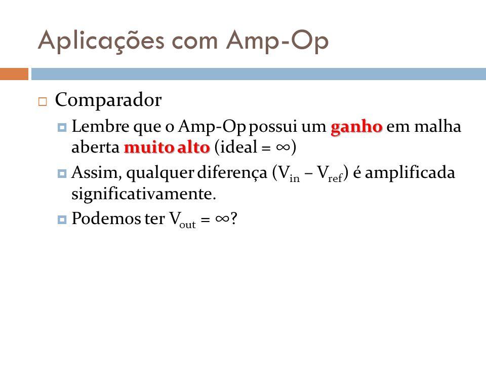 Aplicações com Amp-Op Comparador