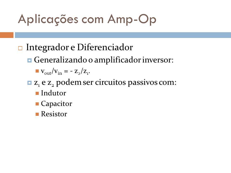 Aplicações com Amp-Op Integrador e Diferenciador