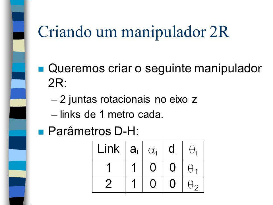 Criando um manipulador 2R