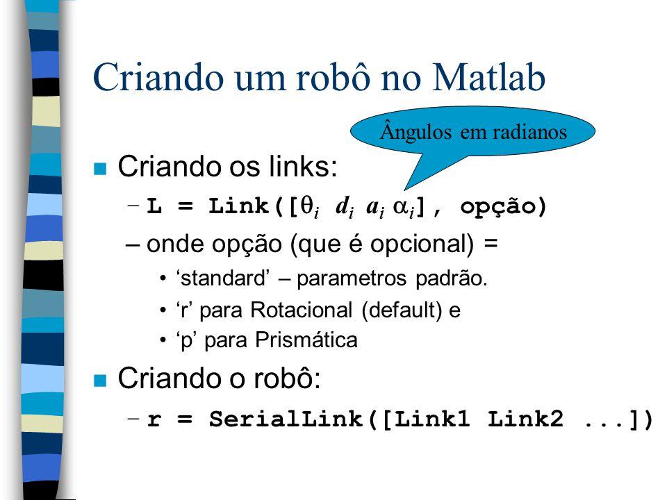 Criando um robô no Matlab