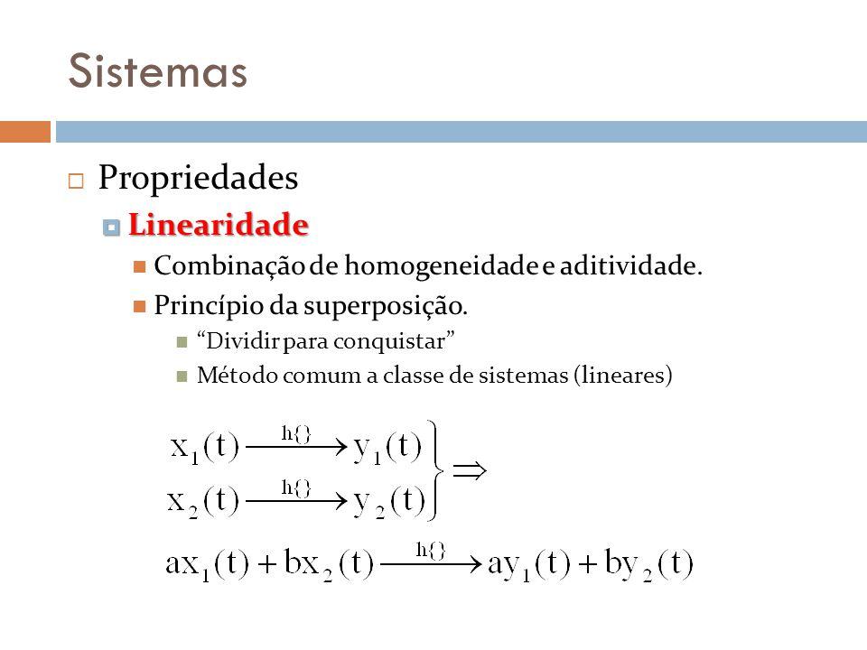 Sistemas Propriedades Linearidade