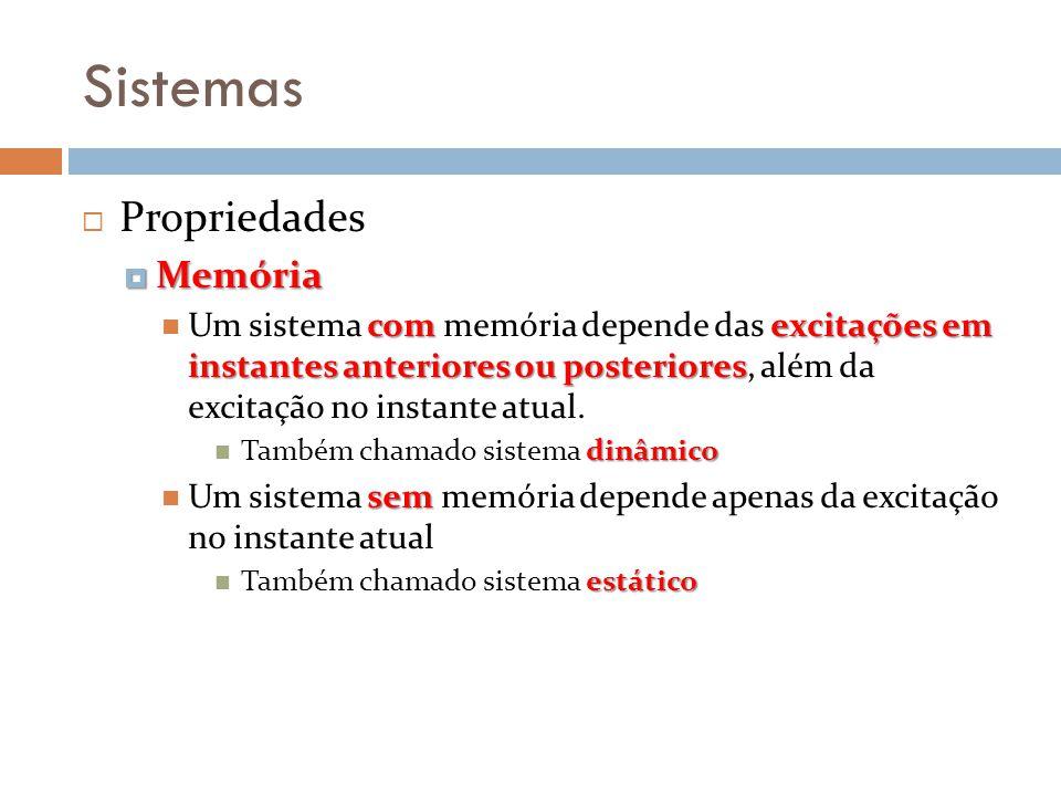 Sistemas Propriedades Memória
