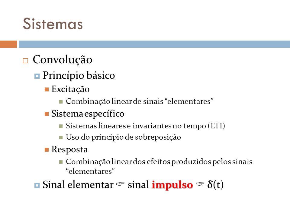 Sistemas Convolução Princípio básico
