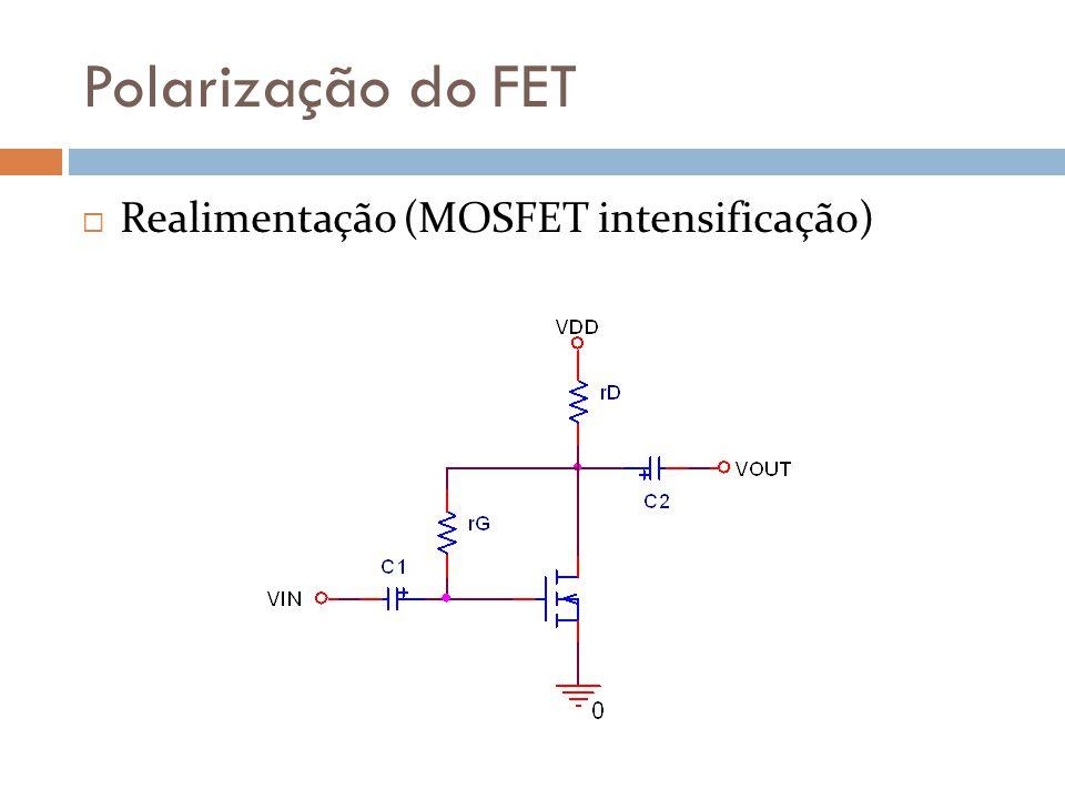 Polarização do FET Realimentação (MOSFET intensificação)