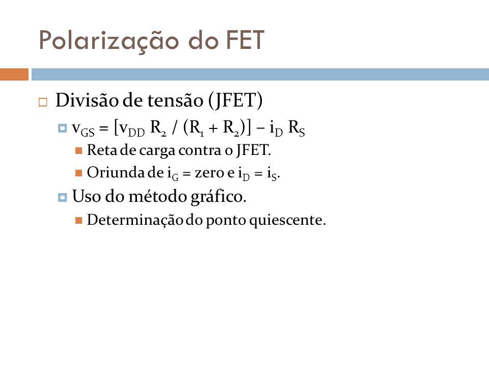Polarização do FET Divisão de tensão (JFET)