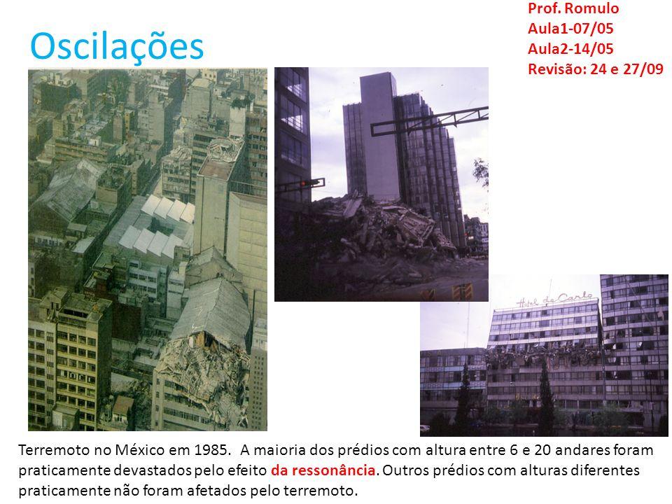 Oscilações Prof. Romulo Aula1-07/05 Aula2-14/05 Revisão: 24 e 27/09