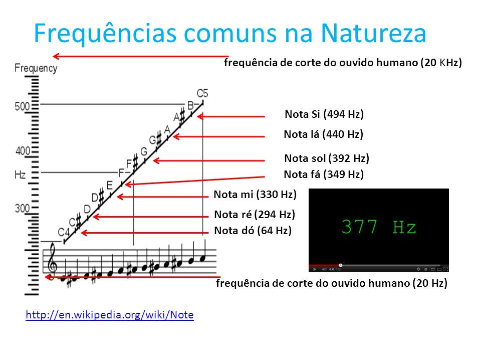 Frequências comuns na Natureza