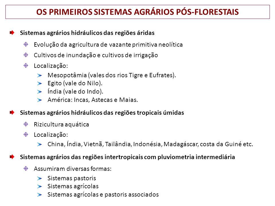 OS PRIMEIROS SISTEMAS AGRÁRIOS PÓS-FLORESTAIS