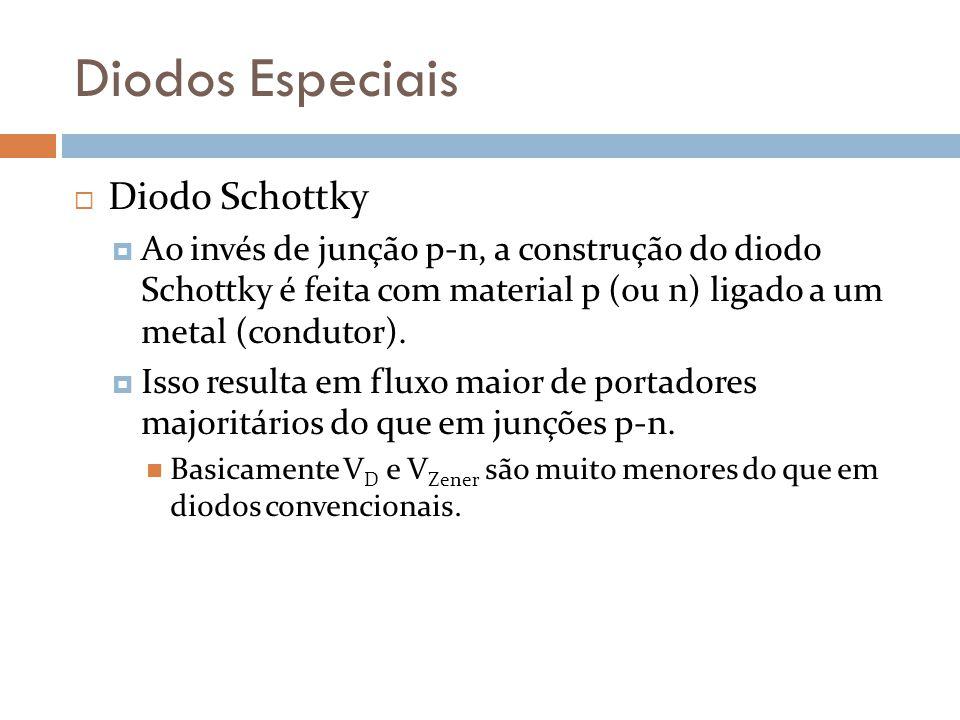 Diodos Especiais Diodo Schottky