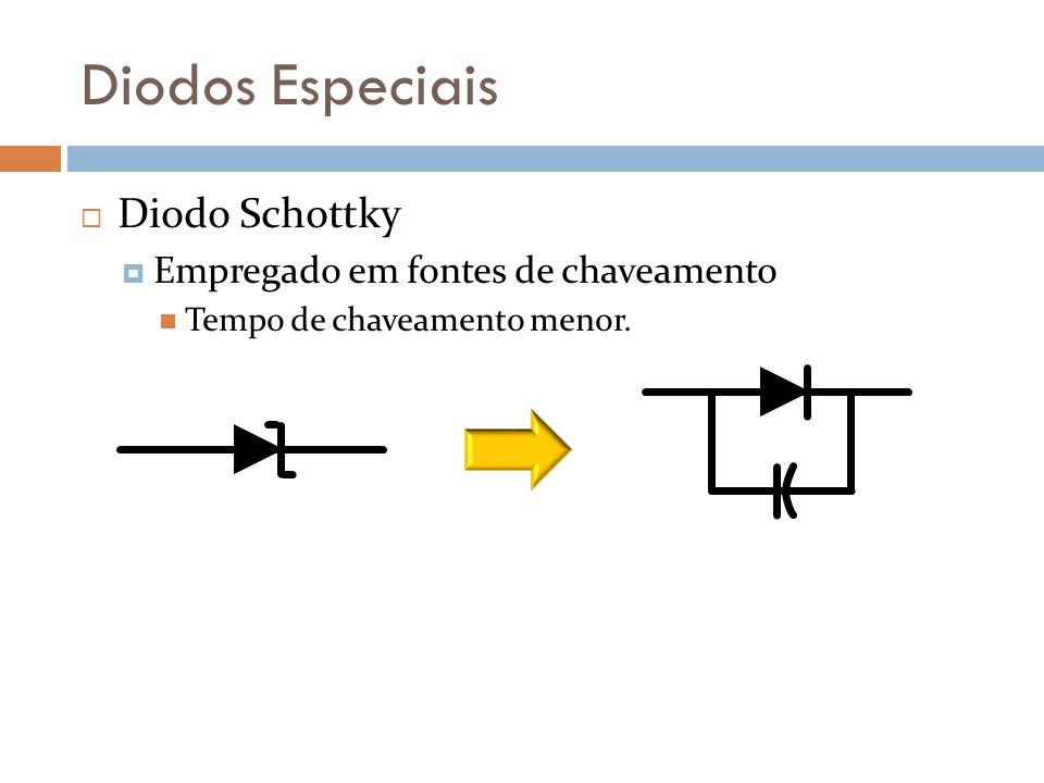 Diodos Especiais Diodo Schottky Empregado em fontes de chaveamento