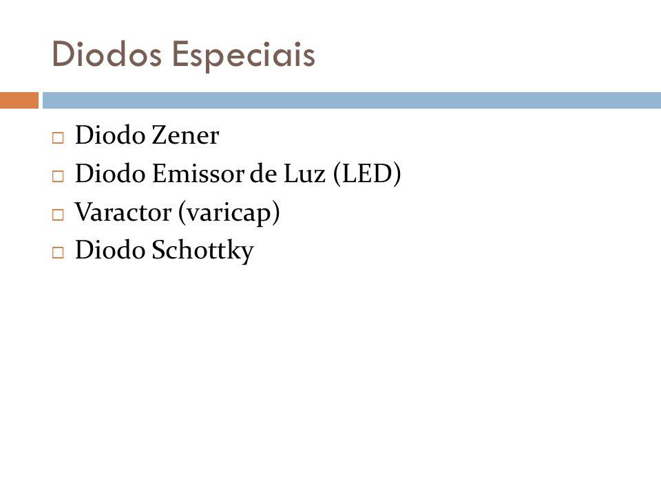 Diodos Especiais Diodo Zener Diodo Emissor de Luz (LED)