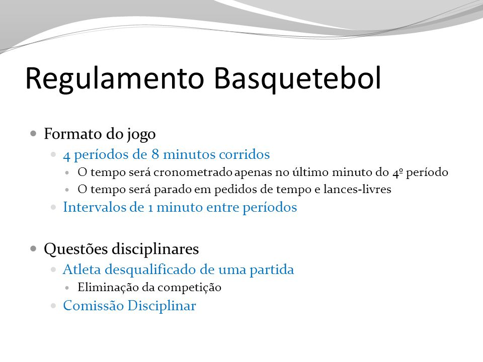 Regulamento Basquetebol