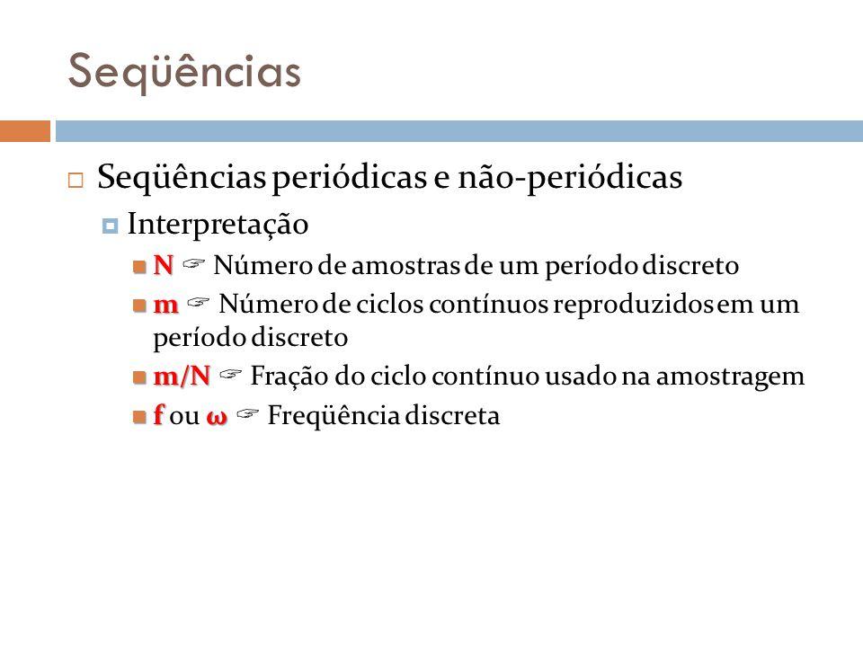 Seqüências Seqüências periódicas e não-periódicas Interpretação