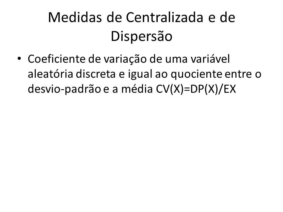 Medidas de Centralizada e de Dispersão