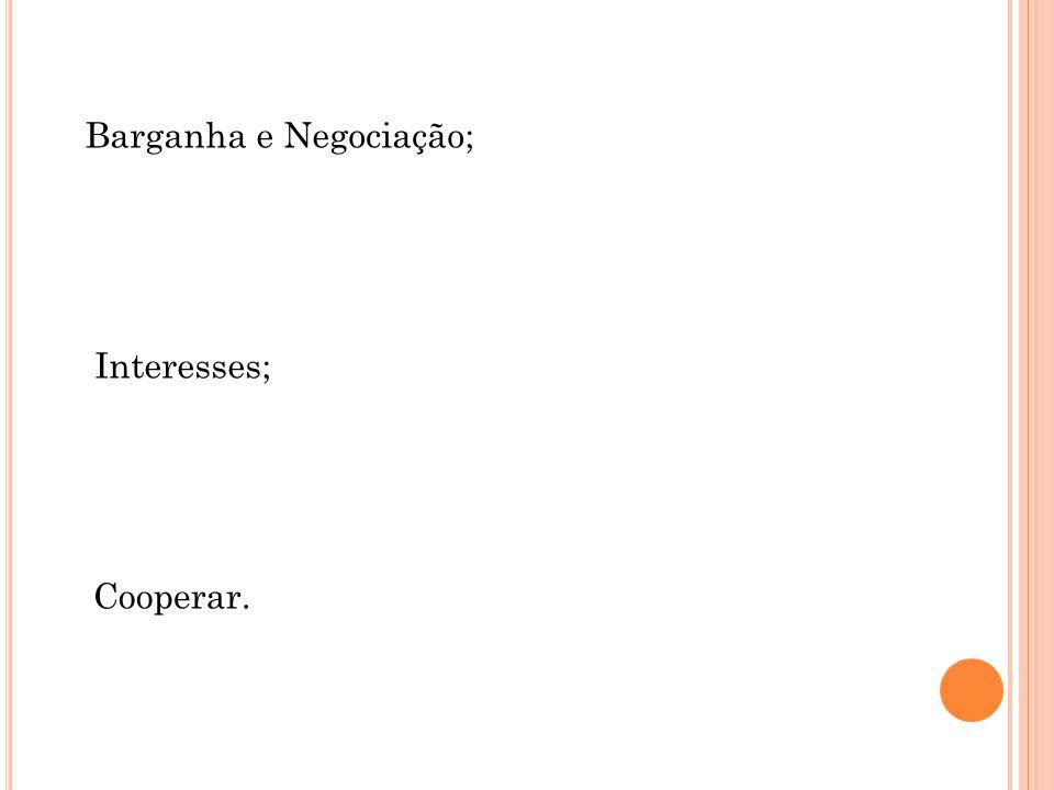 Barganha e Negociação;