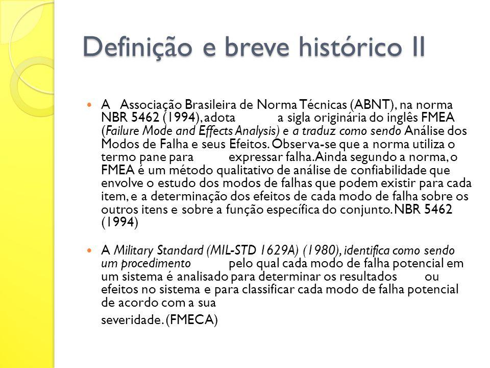 Definição e breve histórico II