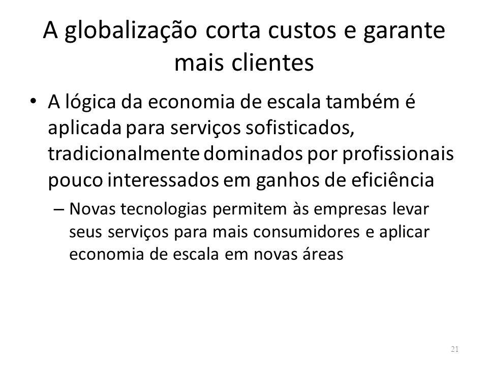 A globalização corta custos e garante mais clientes