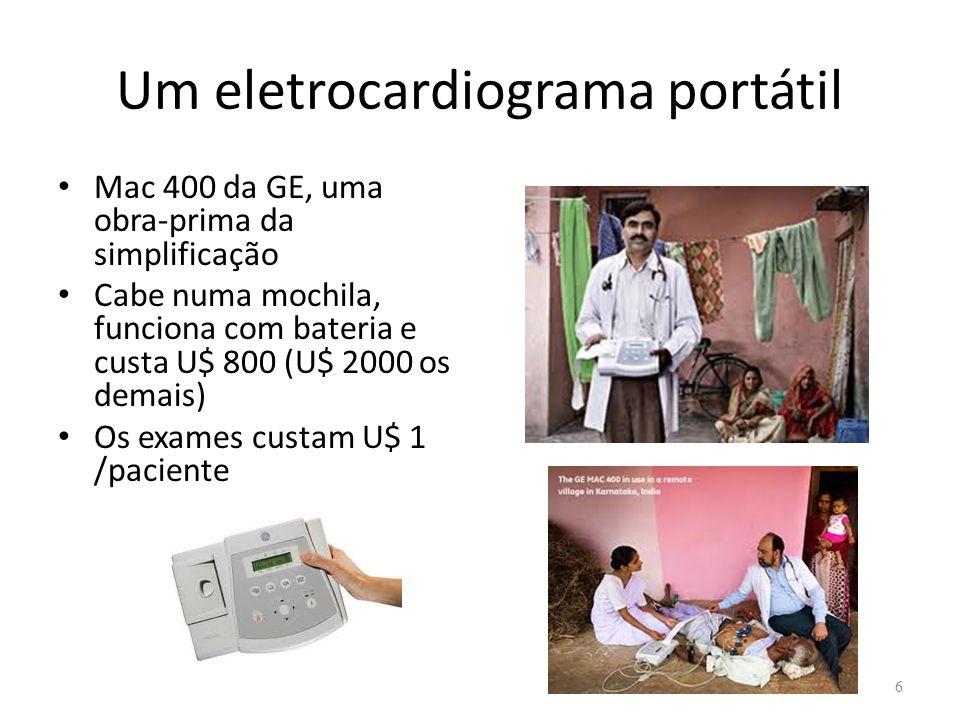 Um eletrocardiograma portátil