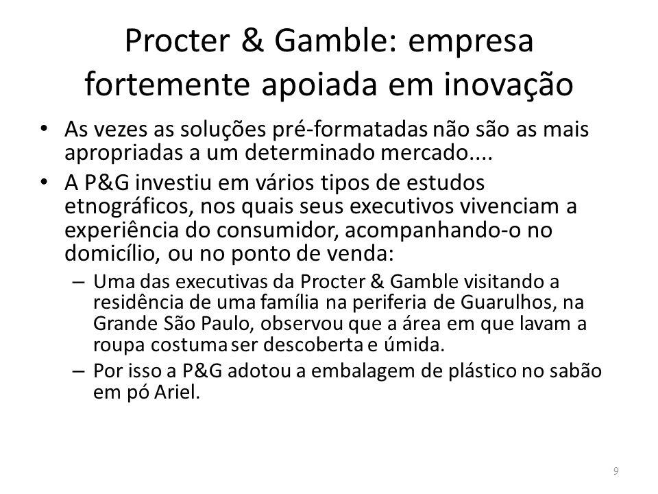 Procter & Gamble: empresa fortemente apoiada em inovação