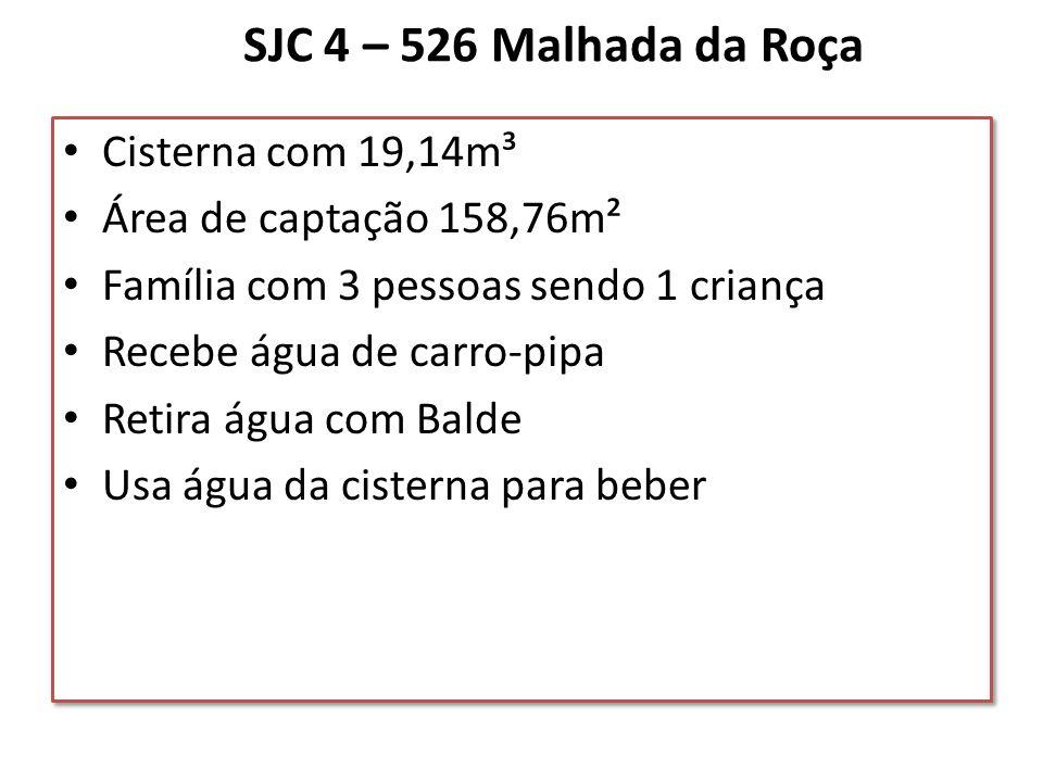 SJC 4 – 526 Malhada da Roça Cisterna com 19,14m³