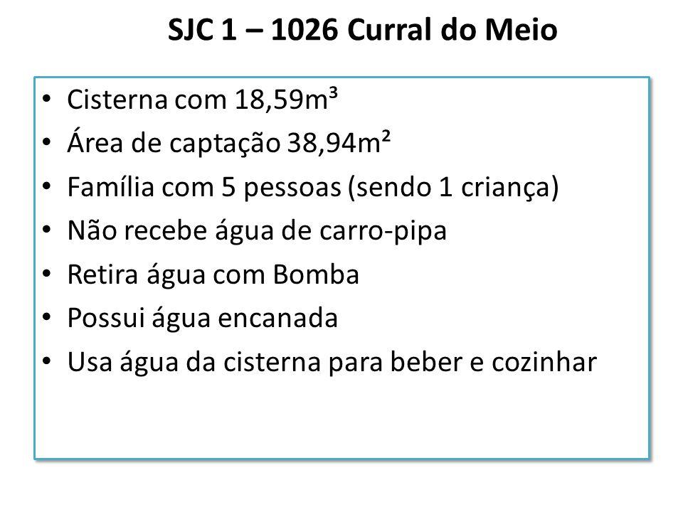 SJC 1 – 1026 Curral do Meio Cisterna com 18,59m³