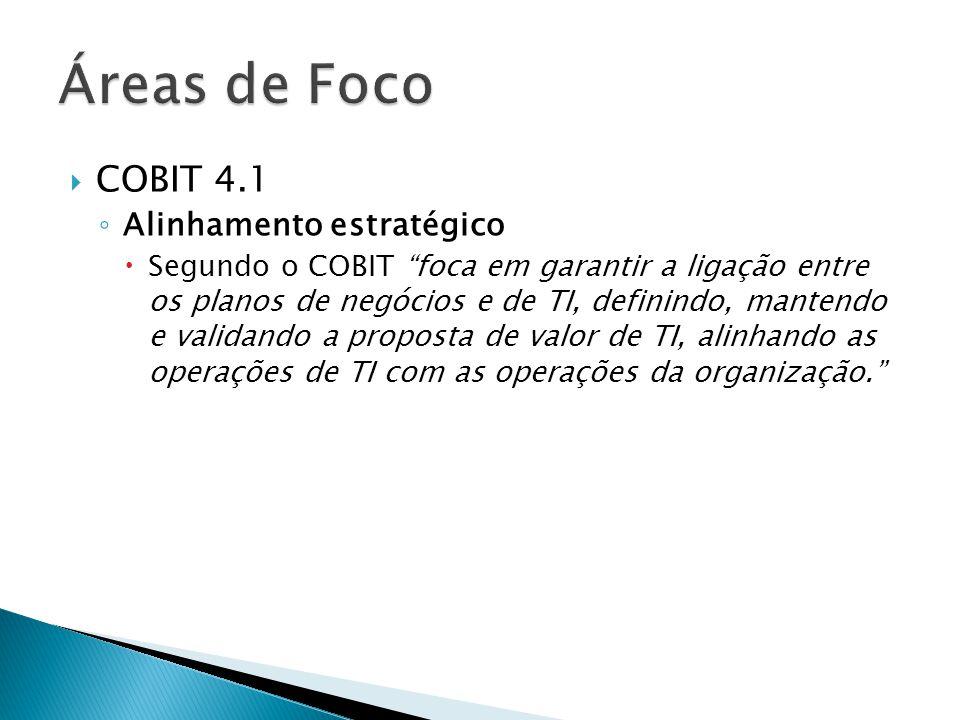 Áreas de Foco COBIT 4.1 Alinhamento estratégico
