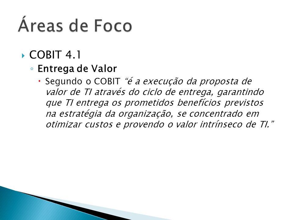 Áreas de Foco COBIT 4.1 Entrega de Valor