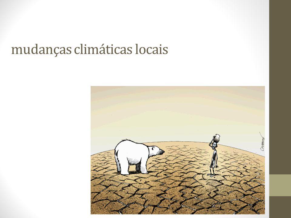 mudanças climáticas locais