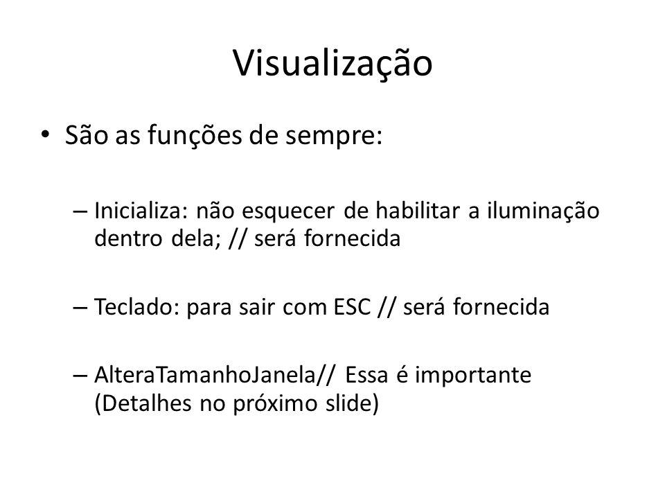 Visualização São as funções de sempre: