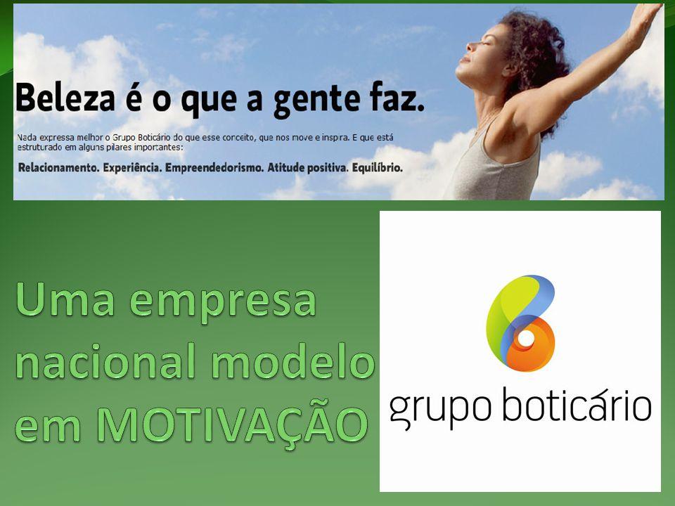 Uma empresa nacional modelo em MOTIVAÇÃO