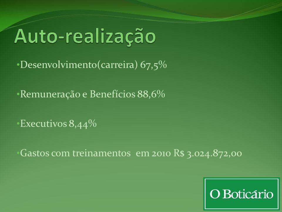 Auto-realização Desenvolvimento(carreira) 67,5%