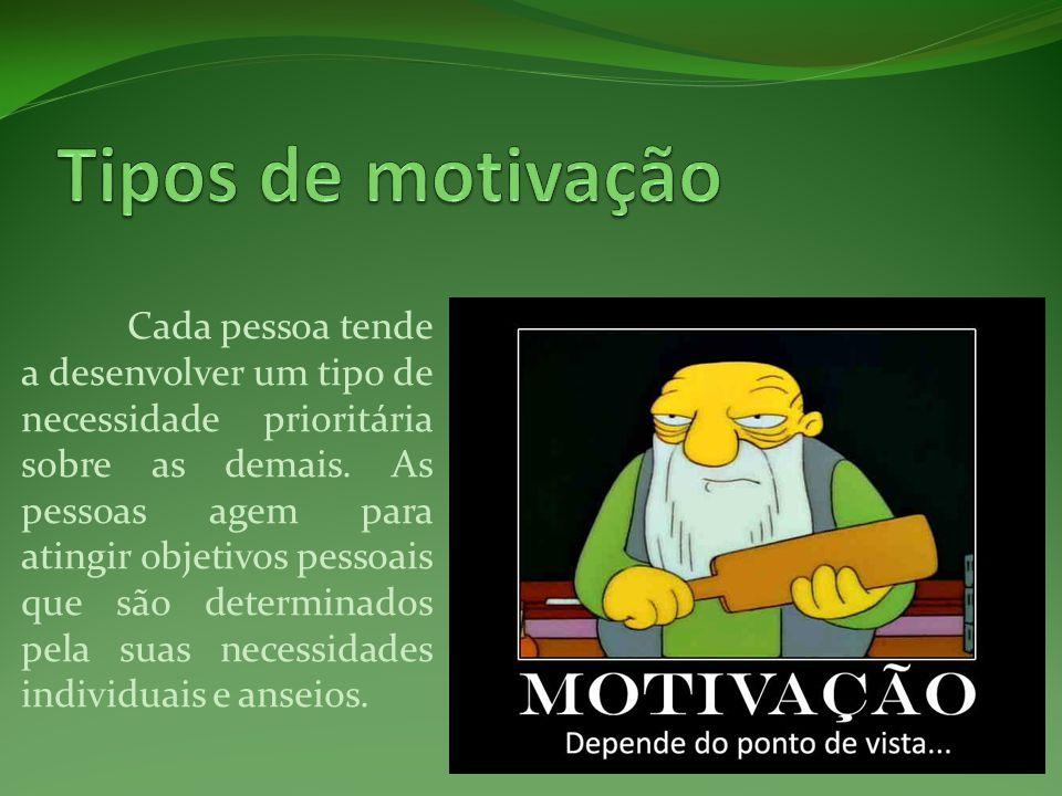 Tipos de motivação