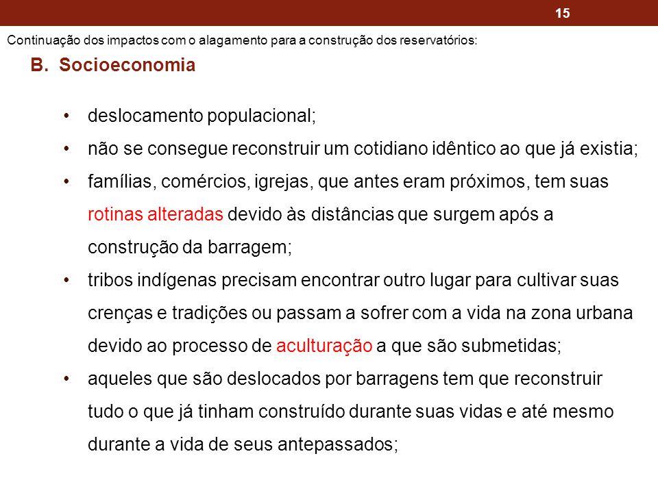 deslocamento populacional;