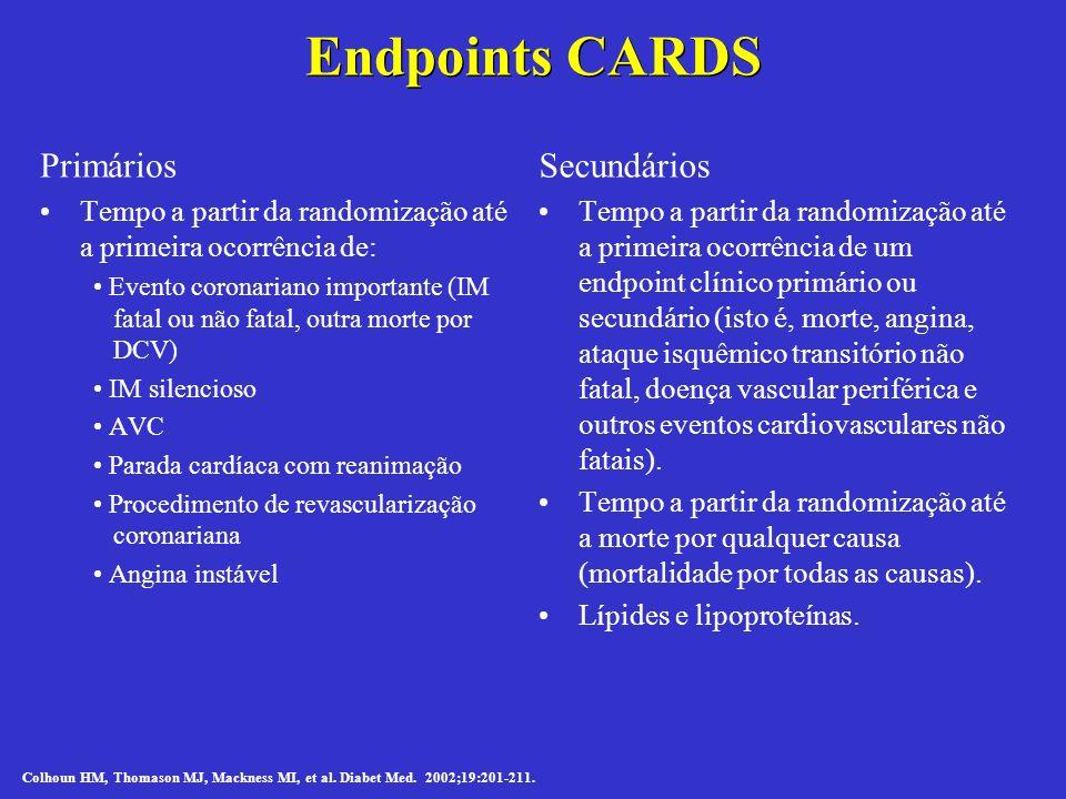 Endpoints CARDS Primários Secundários