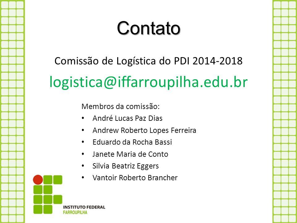 Comissão de Logística do PDI 2014-2018