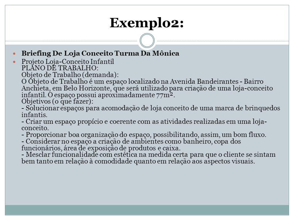 Exemplo2: Briefing De Loja Conceito Turma Da Mônica