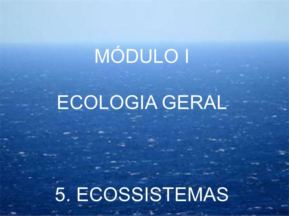MÓDULO I ECOLOGIA GERAL 5. ECOSSISTEMAS