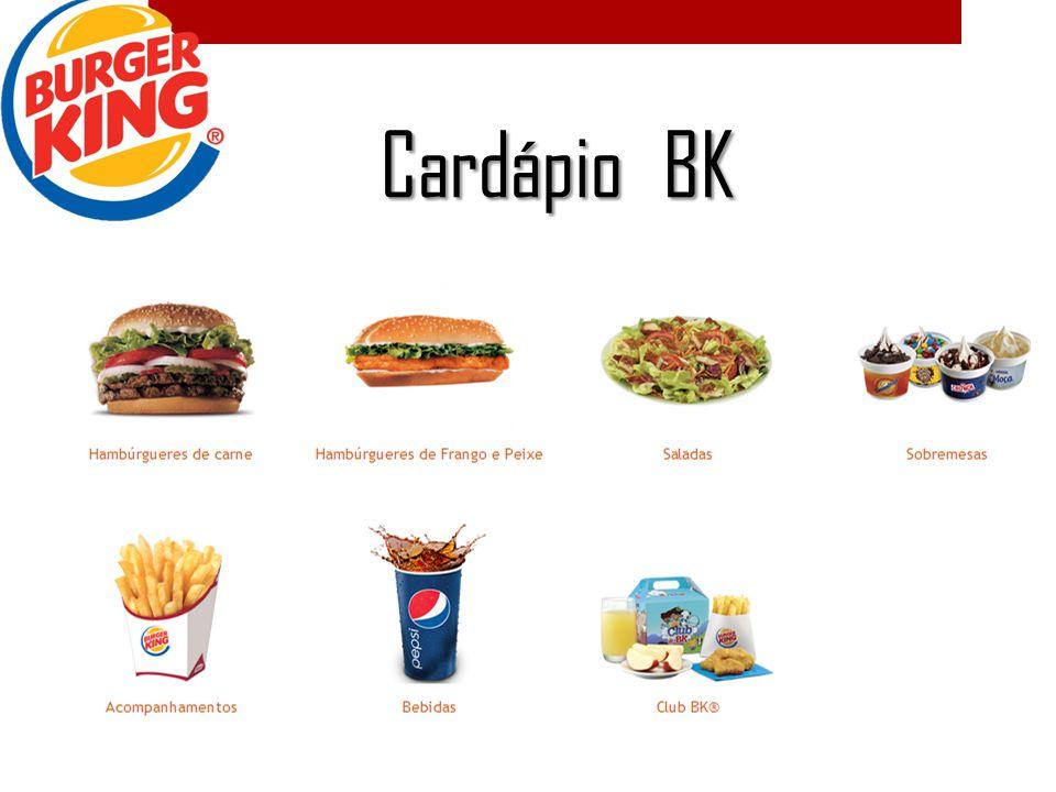 Cardápio BK