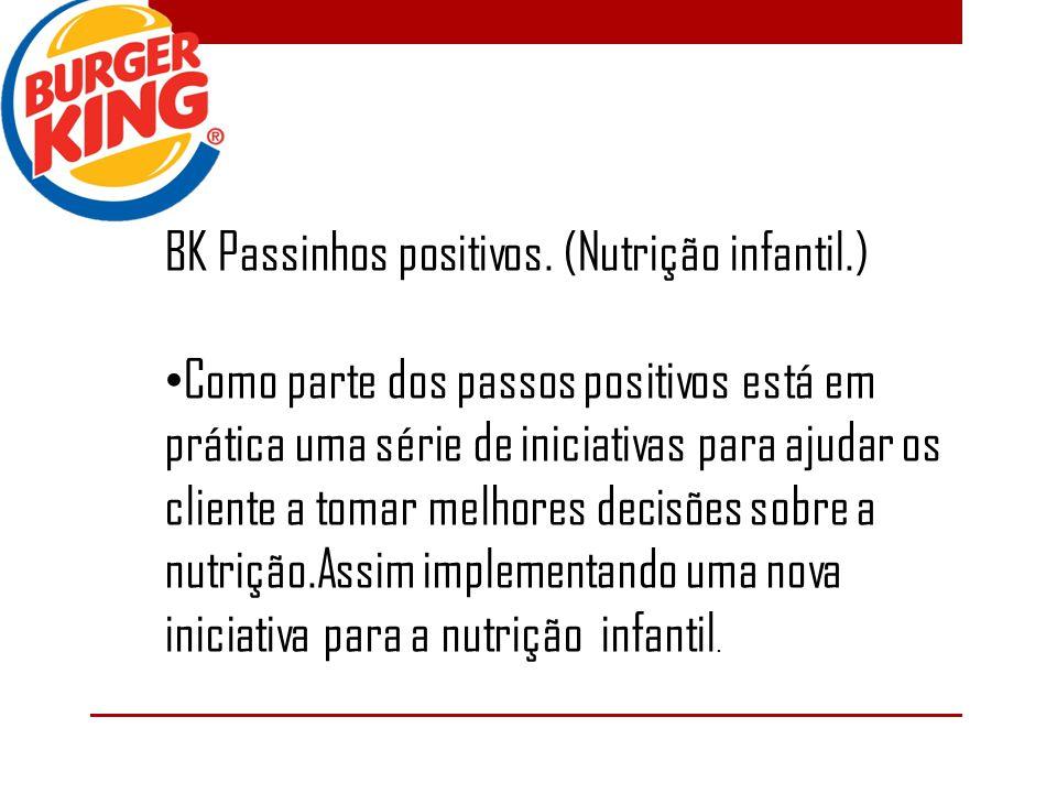 BK Passinhos positivos. (Nutrição infantil.)