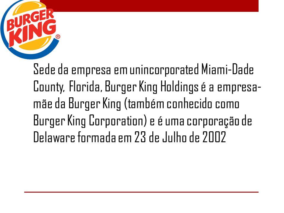 Sede da empresa em unincorporated Miami-Dade County, Florida, Burger King Holdings é a empresa-mãe da Burger King (também conhecido como Burger King Corporation) e é uma corporação de Delaware formada em 23 de Julho de 2002