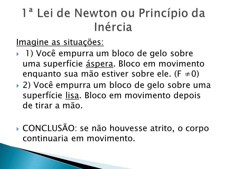 1ª Lei de Newton ou Princípio da Inércia