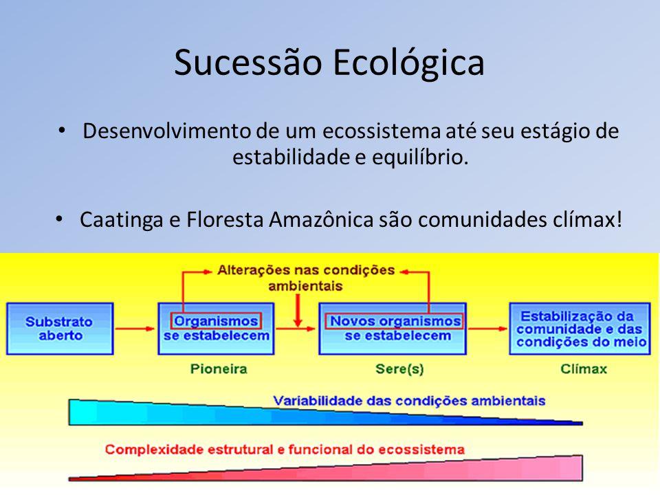 Caatinga e Floresta Amazônica são comunidades clímax!