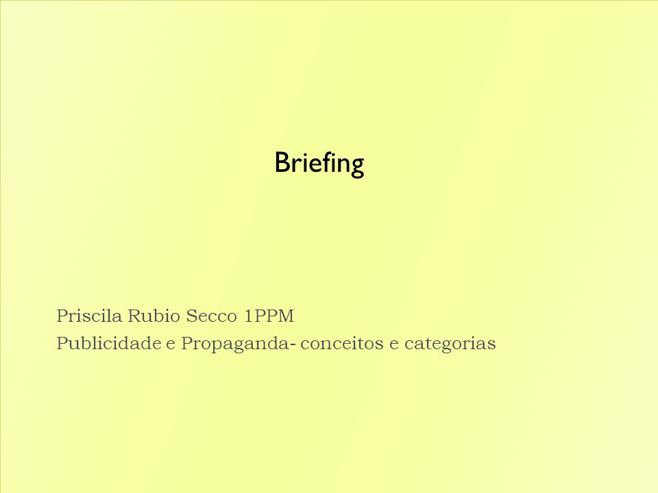 Briefing Priscila Rubio Secco 1PPM