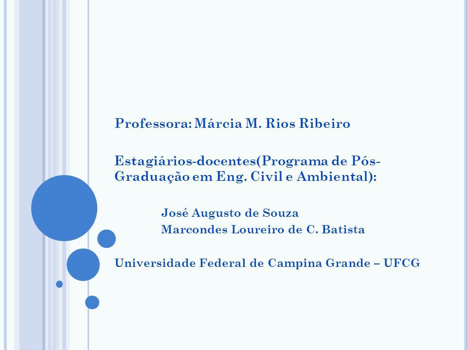 Professora: Márcia M. Rios Ribeiro