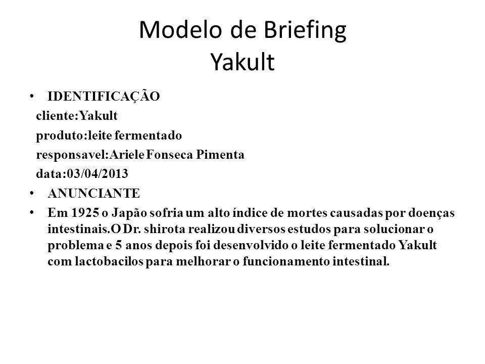 Modelo de Briefing Yakult